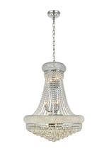 Elegant V1800D24C/SS - 1800 Primo Collection Chandelier D:24in H:32in Lt:14 Chrome Finish (Swarovski� Elements Crystals)