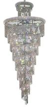 Elegant V1800SR36C/SA - 1800 Spiral Collection Chandelier D:36in H:86in Lt:32 Chrome Finish (Spectra� Swarovski� Crystals)