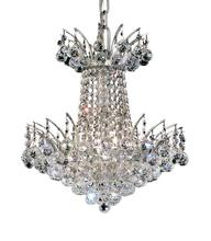 Elegant V8031D16C/RC - 8031 Victoria Collection Pendant D:16in H:16in Lt:4 Chrome Finish (Royal Cut Crystals)