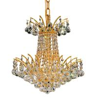 Elegant V8031D16G/RC - 8031 Victoria Collection Pendant D:16in H:16in Lt:4 Gold Finish (Royal Cut Crystals)