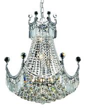 Elegant V8949D20C/SS - 8949 Corona Collection Chandelier D:20in H:28in Lt:9 Chrome Finish (Swarovski� Elements Crystals)