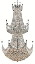 Elegant V8949G36C/SS - 8949 Corona Collection Chandelier D:36in H:66in Lt:36 Chrome Finish (Swarovski� Elements Crystals)