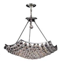 Elegant V9802D26C/SS - 9802 Corona Collection Chandelier D:26in H:21in Lt:12 Chrome Finish (Swarovski� Elements Crystals)