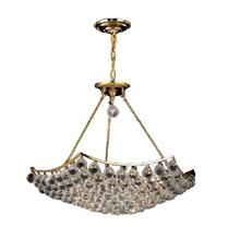 Elegant V9802D26G/SS - 9802 Corona Collection Chandelier D:26in H:21in Lt:12 Gold Finish (Swarovski� Elements Crystals)