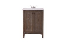 Elegant VF-2004 - 24 in. Single Bathroom Vanity set in Weathered Oak