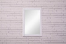 Elegant VM-2001 - Aqua 22 in. Contemporary Mirror in White