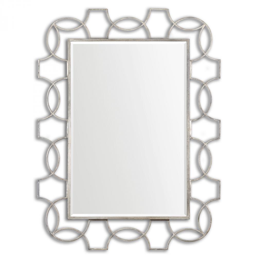 Vizela Large Silver Mirror