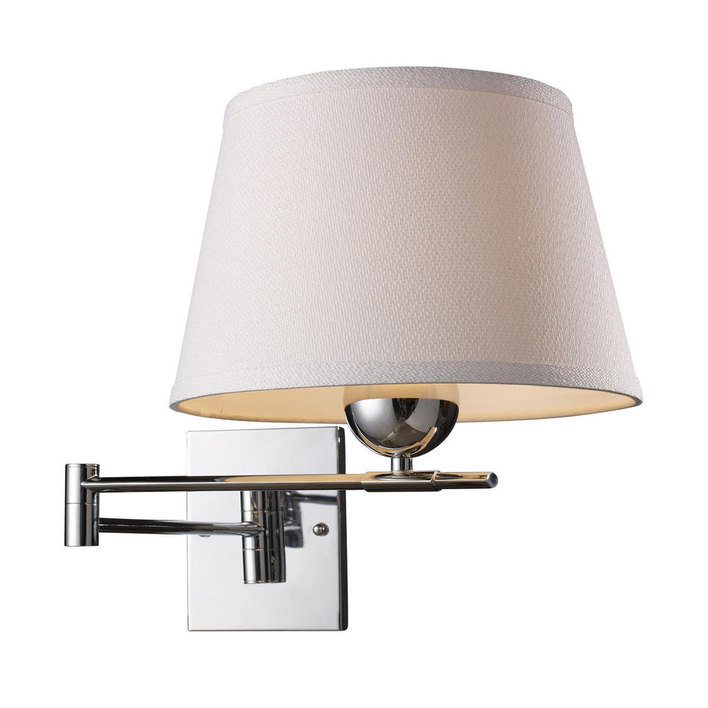 Lanza 1 Light Swing Arm Sconce In Polished Chrom